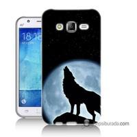 Teknomeg Samsung Galaxy J7 Kapak Kılıf Bozkurt Baskılı Silikon