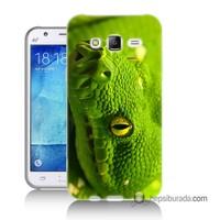 Teknomeg Samsung Galaxy J7 Kapak Kılıf Yılan Baskılı Silikon