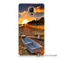Teknomeg Samsung Galaxy Note 4 Kapak Kılıf Kumsal Manzara Baskılı Silikon