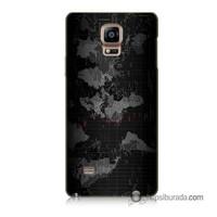 Teknomeg Samsung Galaxy Note 4 Kapak Kılıf Harita Baskılı Silikon
