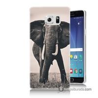 Teknomeg Samsung Galaxy Note 5 Kılıf Kapak Fil Baskılı Silikon