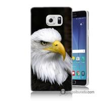 Teknomeg Samsung Galaxy Note 5 Kapak Kılıf Siyah Kartal Baskılı Silikon