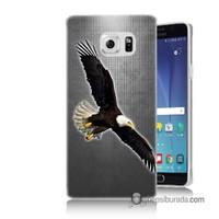 Teknomeg Samsung Galaxy Note 5 Kapak Kılıf Uçan Kartal Baskılı Silikon