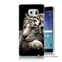 Teknomeg Samsung Galaxy Note 5 Kapak Kılıf Uyuyan Leopar Baskılı Silikon