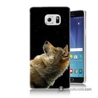Teknomeg Samsung Galaxy Note 5 Kapak Kılıf Bozkurt Baskılı Silikon