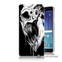Teknomeg Samsung Galaxy Note 5 Kapak Kılıf İskelet Canavar Baskılı Silikon