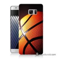 Teknomeg Samsung Galaxy Note 7 Kapak Kılıf Basketbol Baskılı Silikon