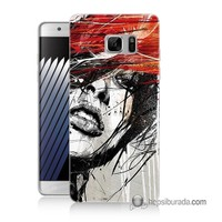 Teknomeg Samsung Galaxy Note 7 Kapak Kılıf Art Wallpaper Baskılı Silikon