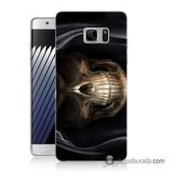 Teknomeg Samsung Galaxy Note 7 Kapak Kılıf Kurukafa Baskılı Silikon