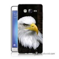 Teknomeg Samsung Galaxy On 5 Kapak Kılıf Siyah Kartal Baskılı Silikon