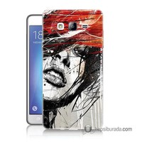 Teknomeg Samsung Galaxy On 5 Kapak Kılıf Art Wallpaper Baskılı Silikon