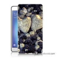 Teknomeg Samsung Galaxy On 5 Kapak Kılıf Love Baskılı Silikon