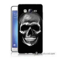 Teknomeg Samsung Galaxy On 5 Kapak Kılıf Kurukafa Baskılı Silikon