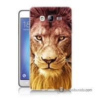 Teknomeg Samsung Galaxy On 7 Kapak Kılıf Aslan Baskılı Silikon
