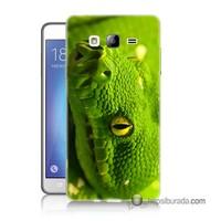 Teknomeg Samsung Galaxy On 7 Kapak Kılıf Yılan Baskılı Silikon