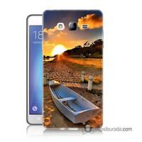 Teknomeg Samsung Galaxy On 7 Kapak Kılıf Kumsal Manzara Baskılı Silikon
