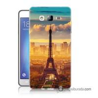 Teknomeg Samsung Galaxy On 7 Kapak Kılıf Eyfel Ve Paris Baskılı Silikon
