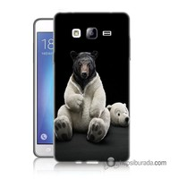 Teknomeg Samsung Galaxy On 7 Kapak Kılıf Kostümlü Ayı Baskılı Silikon