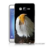 Teknomeg Samsung Galaxy On 7 Kapak Kılıf Eagle Baskılı Silikon