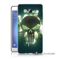 Teknomeg Samsung Galaxy On 7 Kapak Kılıf Punisher Baskılı Silikon