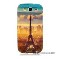 Teknomeg Samsung Galaxy S3 Kapak Kılıf Eyfel Ve Paris Baskılı Silikon