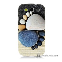 Teknomeg Samsung Galaxy S3 Kapak Kılıf Taş Ayak Baskılı Silikon