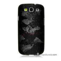 Teknomeg Samsung Galaxy S3 Kapak Kılıf Harita Baskılı Silikon