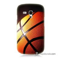 Teknomeg Samsung Galaxy S3 Mini Kapak Kılıf Basketbol Baskılı Silikon