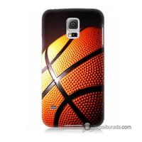 Teknomeg Samsung Galaxy S5 Kapak Kılıf Basketbol Baskılı Silikon