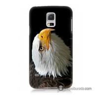 Teknomeg Samsung Galaxy S5 Kapak Kılıf Eagle Baskılı Silikon