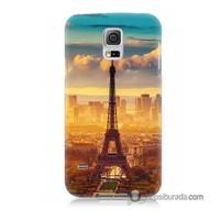 Teknomeg Samsung Galaxy S5 Mini Kapak Kılıf Eyfel Ve Paris Baskılı Silikon