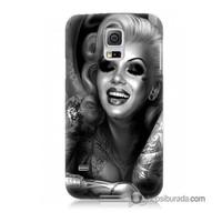 Teknomeg Samsung Galaxy S5 Mini Kapak Kılıf Marilyn Monroe Baskılı Silikon