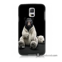 Teknomeg Samsung Galaxy S5 Mini Kapak Kılıf Kostümlü Ayı Baskılı Silikon