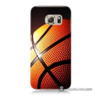 Teknomeg Samsung Galaxy S6 Kapak Kılıf Basketbol Baskılı Silikon