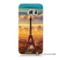 Teknomeg Samsung Galaxy S6 Kapak Kılıf Eyfel Ve Paris Baskılı Silikon
