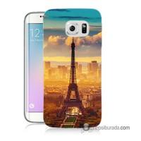 Teknomeg Samsung Galaxy S6 Edge Kapak Kılıf Eyfel Ve Paris Baskılı Silikon