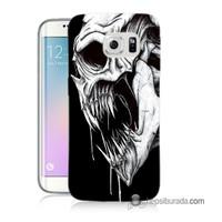 Teknomeg Samsung Galaxy S6 Edge Kapak Kılıf İskelet Canavar Baskılı Silikon