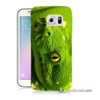 Teknomeg Samsung Galaxy S6 Edge Plus Kapak Kılıf Yılan Baskılı Silikon