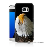 Teknomeg Samsung Galaxy S7 Kapak Kılıf Eagle Baskılı Silikon