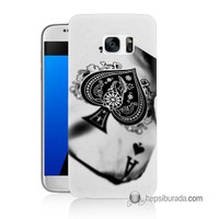 Teknomeg Samsung Galaxy S7 Kapak Kılıf İskambil Baskılı Silikon
