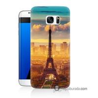 Teknomeg Samsung Galaxy S7 Edge Kapak Kılıf Eyfel Ve Paris Baskılı Silikon