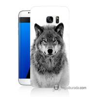 Teknomeg Samsung Galaxy S7 Edge Kapak Kılıf Kurt Baskılı Silikon