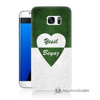 Teknomeg Samsung Galaxy S7 Edge Kapak Kılıf Yeşil Beyaz Baskılı Silikon