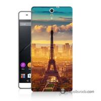 Teknomeg Sony Xperia C5 Kapak Kılıf Eyfel Ve Paris Baskılı Silikon