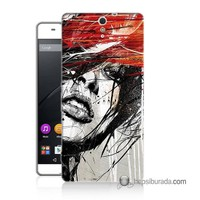 Teknomeg Sony Xperia C5 Kapak Kılıf Art Wallpaper Baskılı Silikon