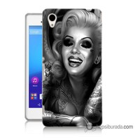 Teknomeg Sony Xperia M4 Aqua Kapak Kılıf Marilyn Monroe Baskılı Silikon