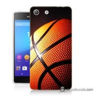 Teknomeg Sony Xperia M5 Kapak Kılıf Basketbol Baskılı Silikon