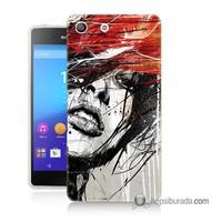 Teknomeg Sony Xperia M5 Kapak Kılıf Art Wallpaper Baskılı Silikon