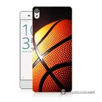 Teknomeg Sony Xperia X Kapak Kılıf Basketbol Baskılı Silikon
