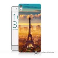 Teknomeg Sony Xperia Z5 Mini Kapak Kılıf Eyfel Ve Paris Baskılı Silikon